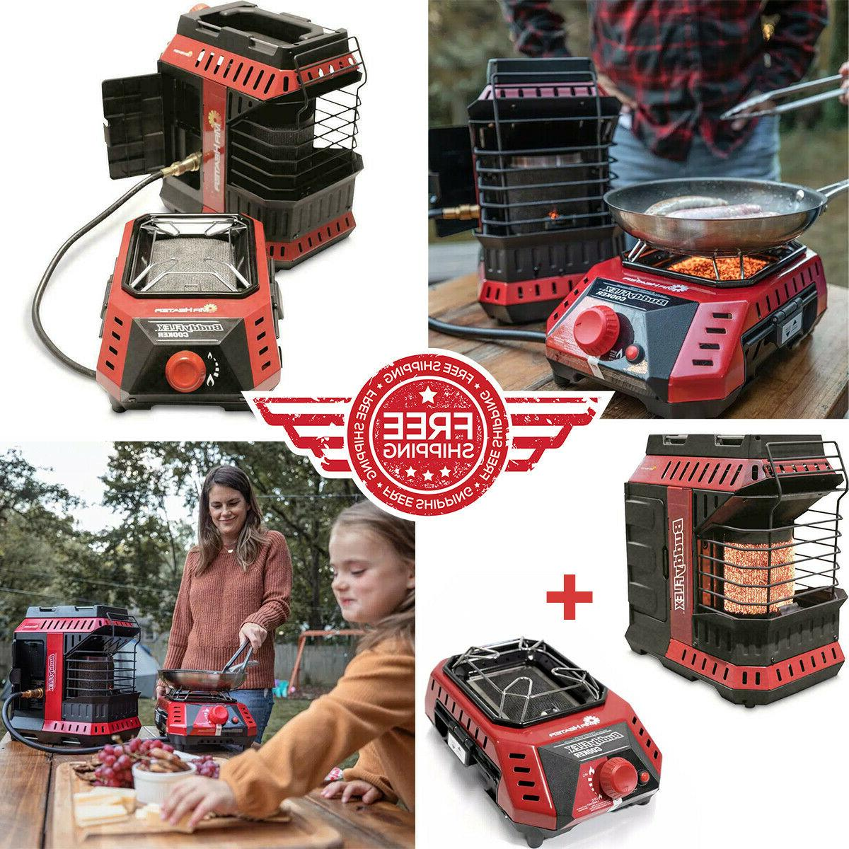 NEW Mr. Heater Buddy FLEX Portable Radiant Heater AND Cooker